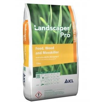 ICL Landscaper Pro Feed, Weed & Mosskiller 14-0-5+FE +MCPA +Mecoprop-P Fertiliser 15kg