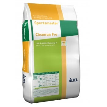 ICL Sportsmaster Cleanrun Pro Feed & Weed Fertiliser 14-0-5 25kg