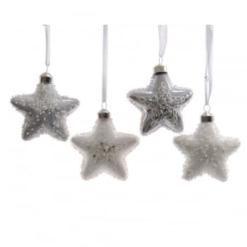 Mixed Glass Star Bauble with Beads