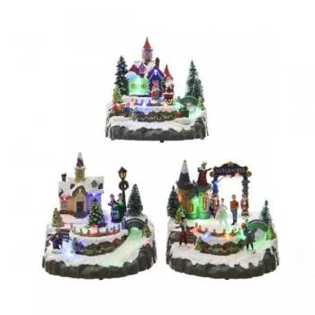 Multi Coloured LED Christmas Village
