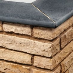 Bullnose Sandstone Paving Copings: Carbon Black 600 x 300mm
