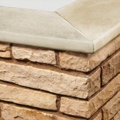 Bullnose Sandstone Paving Copings: Cornsilk 600 x 300mm