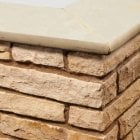 Bullnose Sandstone Paving Copings: Golden Fossil 600 x 300mm