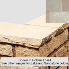 Bullnose Sandstone Paving Copings: Lakeland 600 x 300mm