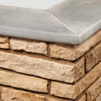 Natural Paving Bullnose Sandstone Paving Copings: Pumice 600 x 300mm