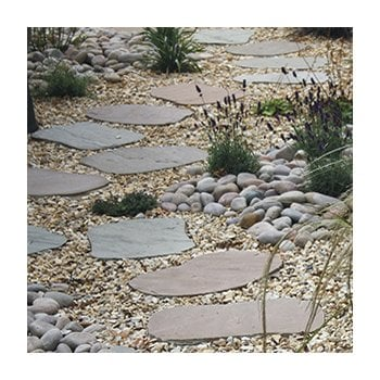 Natural Paving Calibrated Stepping Paving Stones: Lakeland Hand Cut Random Shapes
