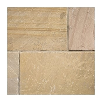 Natural Paving Classicstone 24mm Calibrated Sandstone: Harvest 600 x 600mm