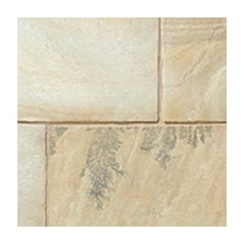 Natural Paving Classicstone 24mm Calibrated Sandstone Paving: Golden Fossil 290 x 290mm