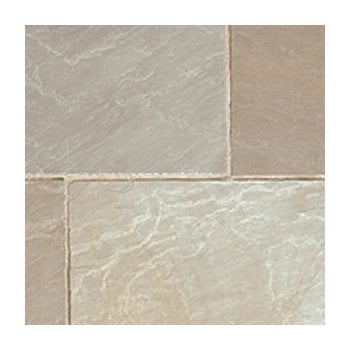 Natural Paving Classicstone 24mm Calibrated Sandstone Paving: Lakeland 600 x 600mm