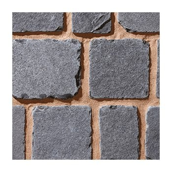 Natural Paving Cobblestone Weathered Cobbles 25-50mm: Ebony 100 x 200mm