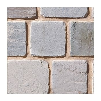 Natural Paving Cobblestone Weathered Cobbles 25-50mm: Pewter Mixed Pack