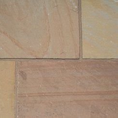 Finestone Sandstone Paving 15-22mm: Autumn Brown Project Pack