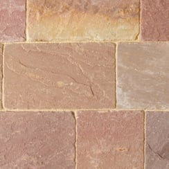 Fossestone 50mm Block Paving: Calluna 150 x 150mm