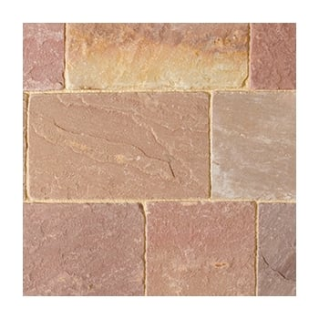 Natural Paving Fossestone 50mm Block Paving: Calluna 250 x 150mm
