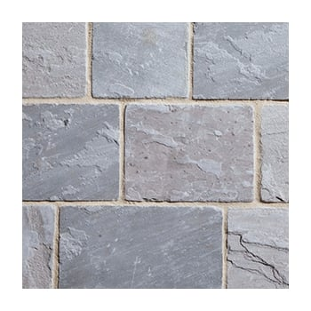 Natural Paving Fossestone 50mm Block Paving: Cinder 150 x 150mm