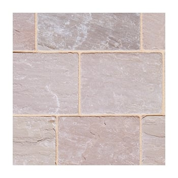 Natural Paving Fossestone 50mm Block Paving: Forest 250 x 150mm