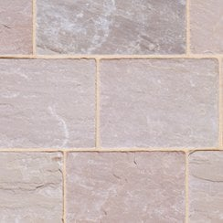 Fossestone 50mm Sandstone Block Paving: Forest 250 x 150mm