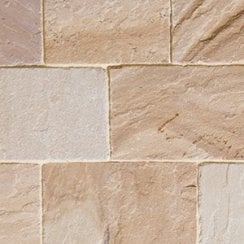 Fossestone 50mm Sandstone Block Paving: Orchard 150 x 150mm