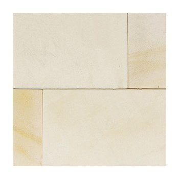 Natural Paving Premiastone 20mm Honed Sandstone Paving: Ivory Project Pack