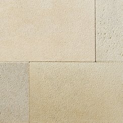Premiastone 20mm Sandblasted Sandstone Paving: Cornsilk 600 x 900mm