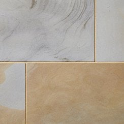 Premiastone 20mm Sandblasted Sandstone Paving: York Mix 600 x 900mm