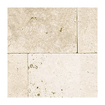 Natural Paving Premiastone 30mm Travertine: Cream 406 x 406mm