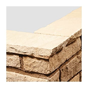 Natural Paving Sandstone Calibrated Copings: Golden Fossil 600 x 150mm