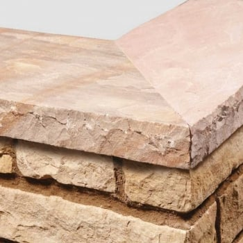 Natural Paving Sandstone Calibrated Copings: Harvest 300 x 300mm