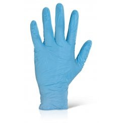 Nitrile Disposable Powder Free Blue Gloves L