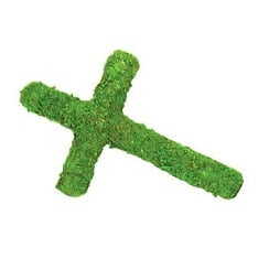 Padded Moss Effect Cross
