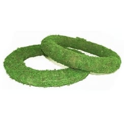 Padded Moss Effect Wreath Rings Flat Wire Back