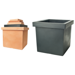 Gemini Smooth Square Pot 60L