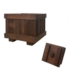 Simil Legno Wood Effect Square Box