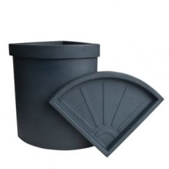 Vela Smooth Corner Pot 47 Litre