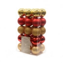 Red & Gold Plain Christmas Bauble
