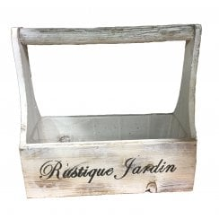 Rustic Washed Wood Seed Box