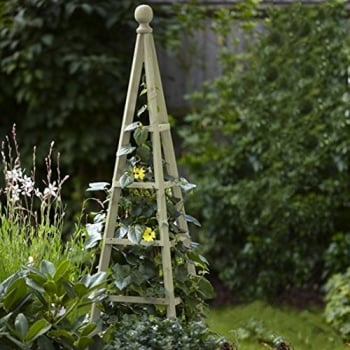 Rustic Wooden 5ft Obelisk (French Grey)