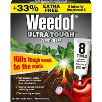 Scotts Weedol Ultra Tough 6 Tubes + 2 FREE!