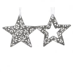Silver Iron Star Cut Out