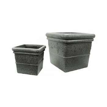 Stewart Grapes Square Planter Marble Green
