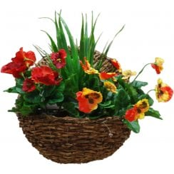Pansy Artificial Wall Basket
