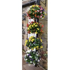 Pansy Ball Artificial Hanging Basket