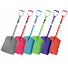 Colour 1-Piece Plastic Shovel