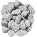 Tumbled Silver Grey Granite Cobbles 60-40 mm