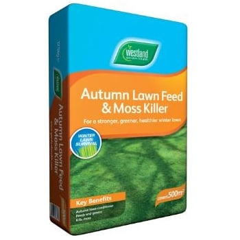Westland Autumn Lawn Feed & Moss Killer (500m²)