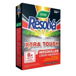 Resolva Xtra Tough Concentrate Weed Killer Liquid Sachets - 6 x 100ml