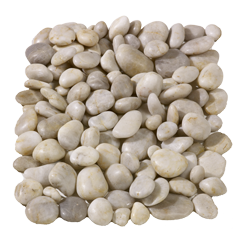 White Polished Pebbles 60-20 mm