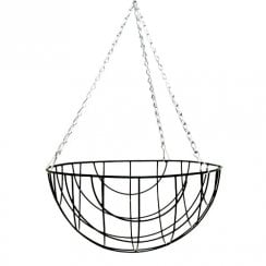 Wire Hanging Basket Round Bottom 12""